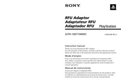 Instrukcja do kabla RFU SCPH-10071