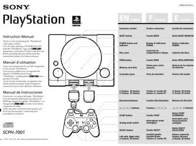 instrukcja psx scph 7001 - Instrukcje NTSC-U/C do PlayStation