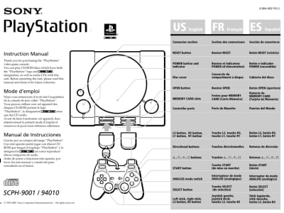 Instrukcja do PlayStation SCPH-9001