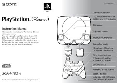 Instrukcja do PlayStation SCPH-102A