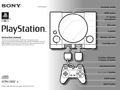 Instrukcja do PlayStation SCPH-5502