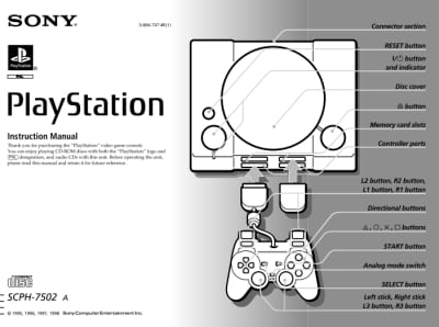 Instrukcja do PlayStation SCPH-7502