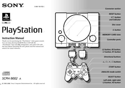 instrukcja psx scph9002a - Instrukcje - PlayStation PAL (Europa)