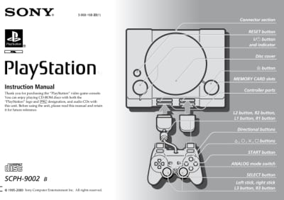 Instrukcja do PlayStation SCPH-9002B