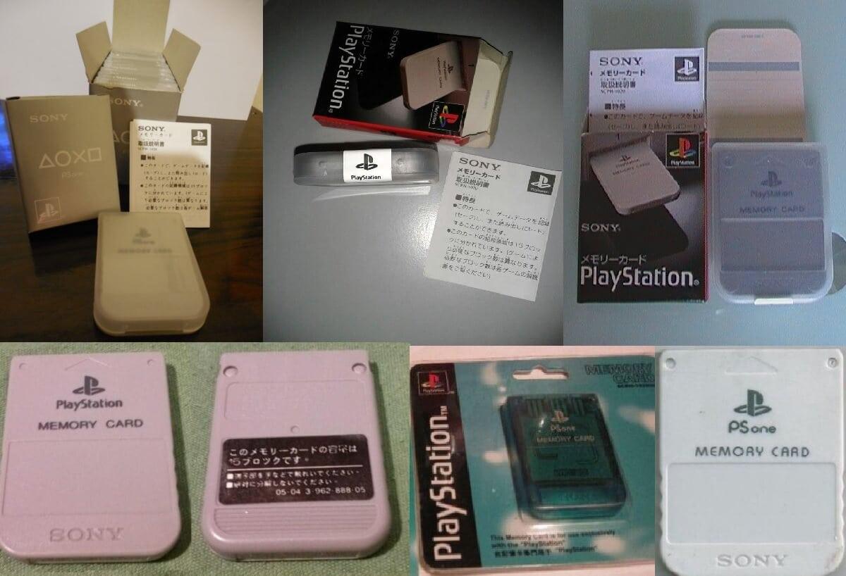 Wybrane karty pamięci z różnych aukcji internetowych.