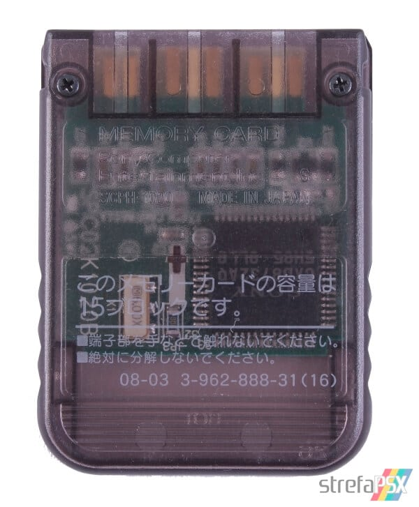 SCPH 1020BI back smoke grey - [SCPH-1020] Memory Card / Karta pamięci