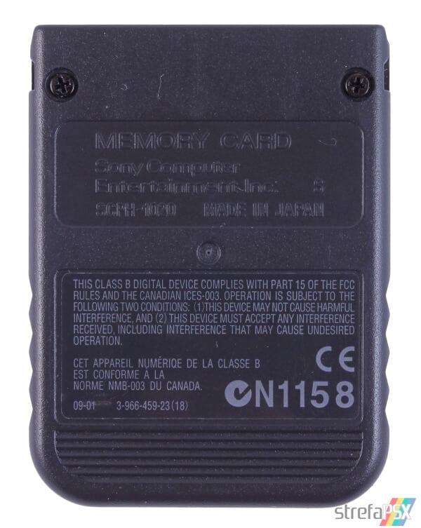 SCPH 1020B back black - [SCPH-1020] Memory Card / Karta pamięci