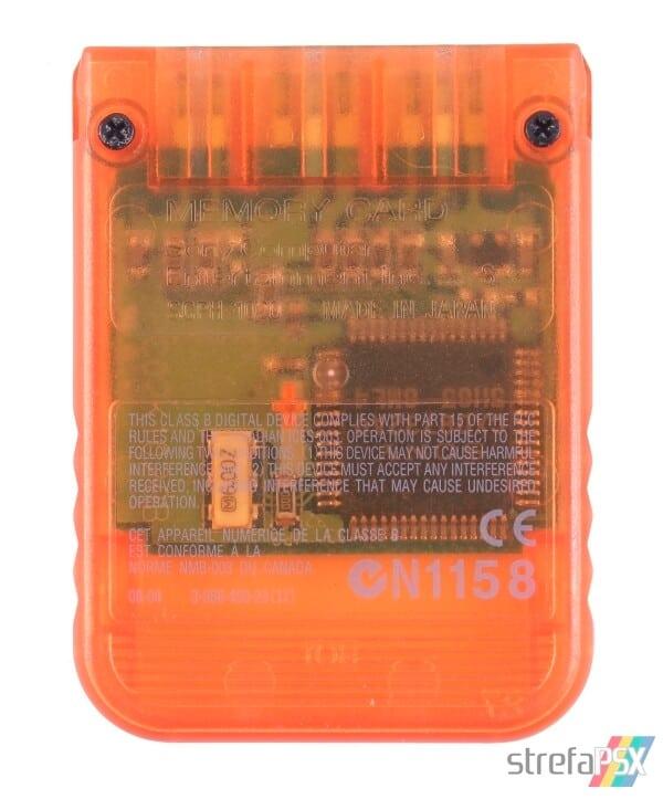 SCPH 1020D back candy orange - [SCPH-1020] Memory Card / Karta pamięci
