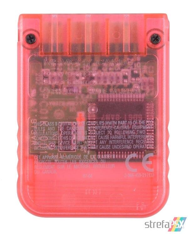 SCPH 1020RI back cherry red - [SCPH-1020] Memory Card / Karta pamięci