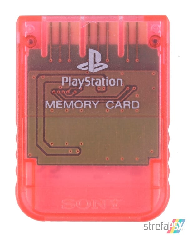 SCPH 1020RI front cherry red - [SCPH-1020] Memory Card / Karta pamięci