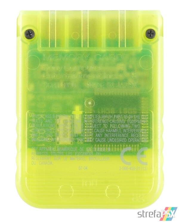SCPH 1020YI back lemon yellow - [SCPH-1020] Memory Card / Karta pamięci