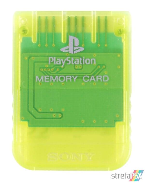 SCPH 1020YI front lemon yellow - [SCPH-1020] Memory Card / Karta pamięci