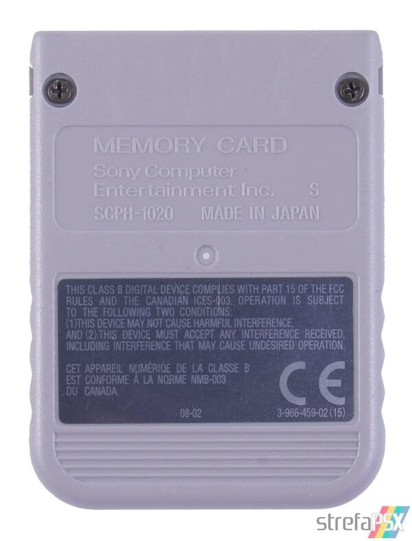 SCPH 1020 back grey - [SCPH-1020] Memory Card / Karta pamięci