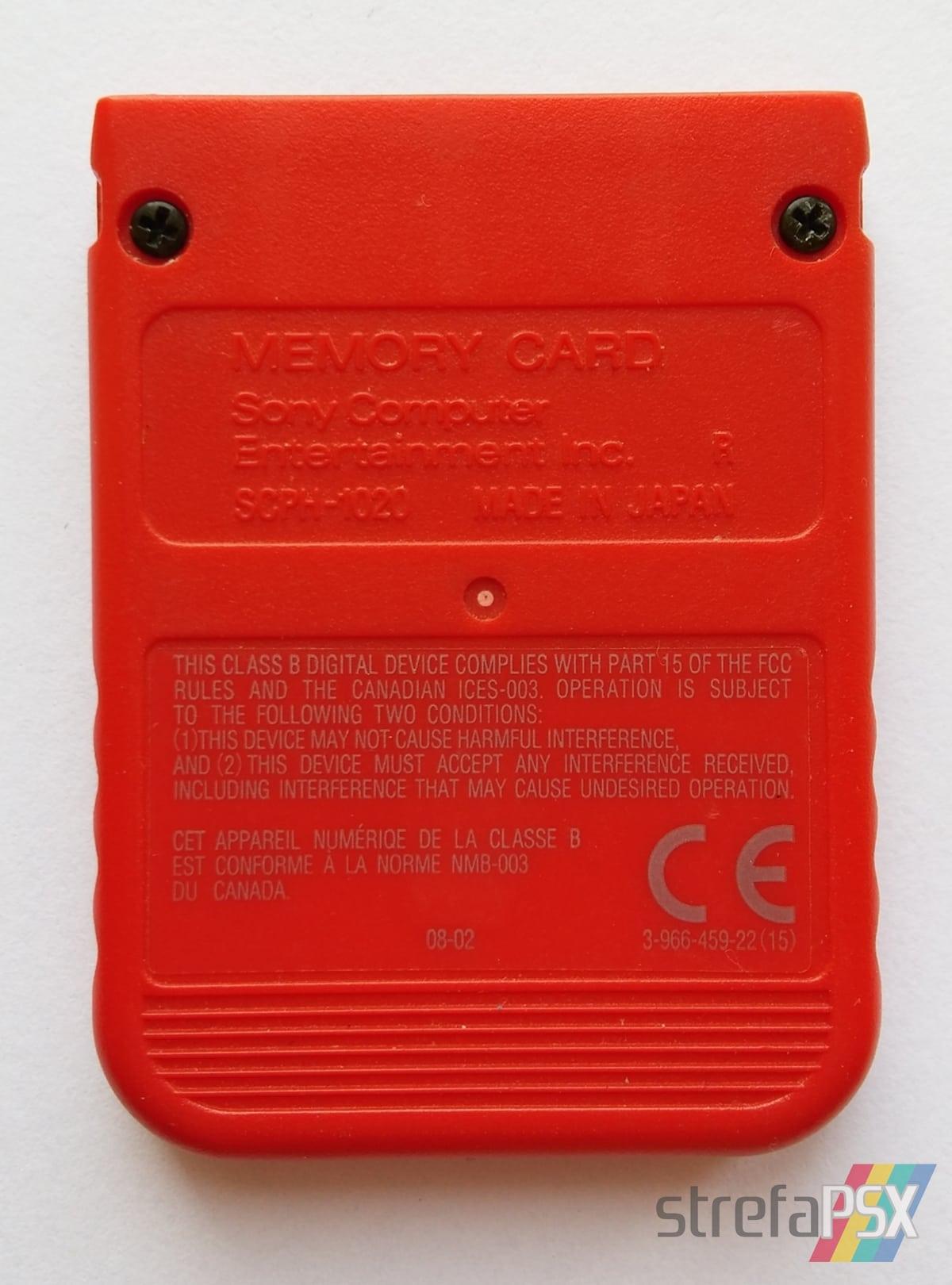 memory card scph 1020RJ021 - [SCPH-1020] Memory Card / Karta pamięci