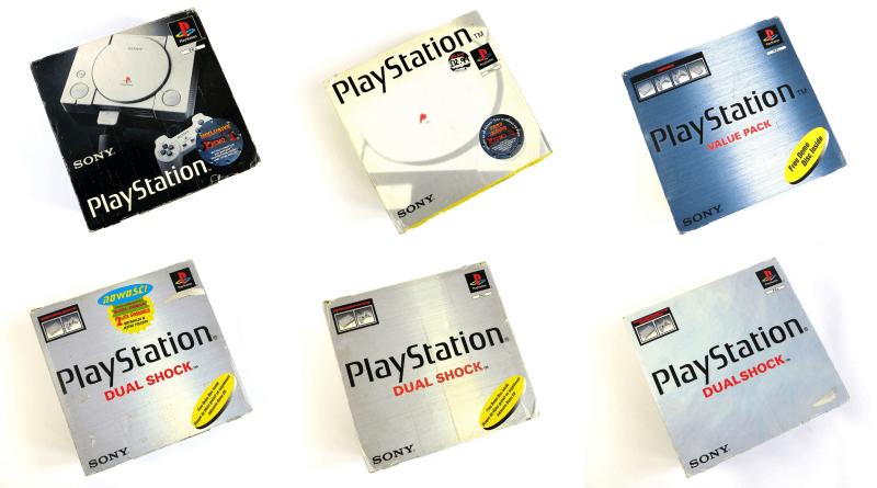 opakowania poszczegolnych modeli playstation baner - Opakowania podstawowych modeli PlayStation