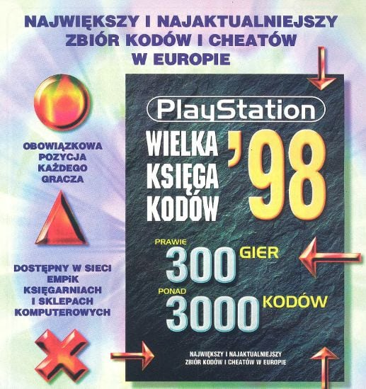 """Okładka """"Wielkiej Księgi Kodów '98"""""""