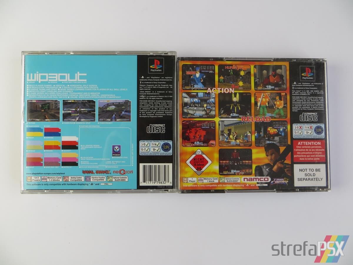 rozne pudelka gier psx pal 39 - Standardowe opakowania gier w regionie PAL