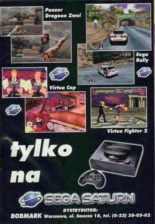 Reklama Sega Saturn z Secret Service 11.1996