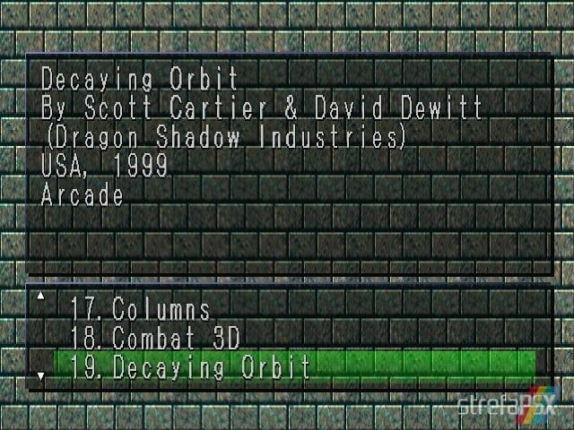 Decaying Orbit 1 - Najlepsze gry stworzone za pomocą Net Yaroze