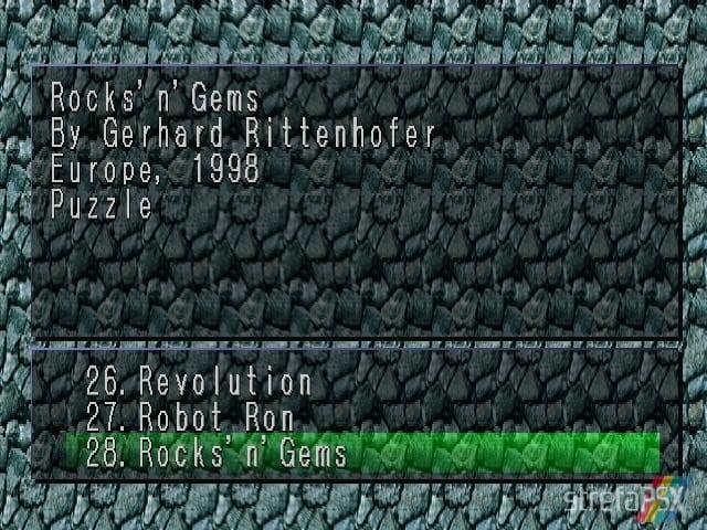 Rocksn Gems 1 - Najlepsze gry stworzone za pomocą Net Yaroze