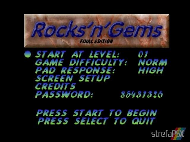 Rocksn Gems 2 - Najlepsze gry stworzone za pomocą Net Yaroze