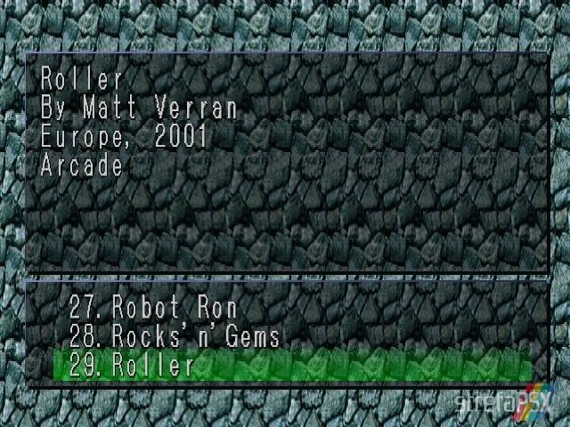 Roller 1 - Najlepsze gry stworzone za pomocą Net Yaroze