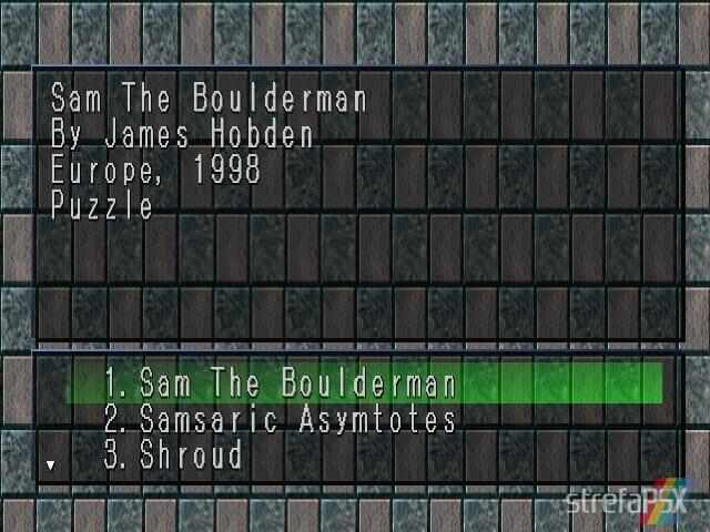 Sam The Boulder Man 1 - Najlepsze gry stworzone za pomocą Net Yaroze