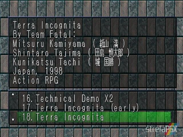 Terra Incognita 1 - Najlepsze gry stworzone za pomocą Net Yaroze