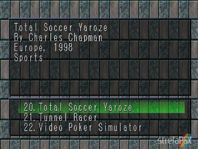 Total Soccer Yaroze 1 - Najlepsze gry stworzone za pomocą Net Yaroze