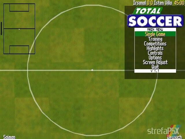 Total Soccer Yaroze 2 - Najlepsze gry stworzone za pomocą Net Yaroze