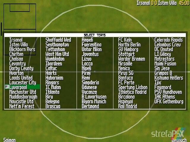 Total Soccer Yaroze 3 - Najlepsze gry stworzone za pomocą Net Yaroze