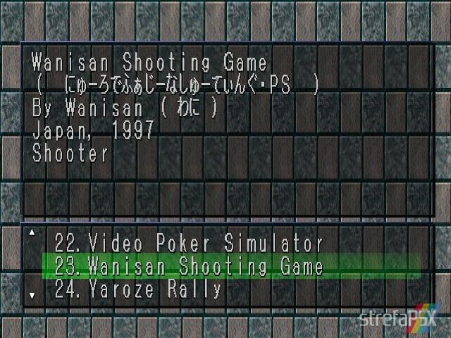 Wanisan Shooting Game 1 - Najlepsze gry stworzone za pomocą Net Yaroze