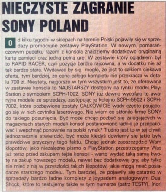 scph5502 - Niestandardowe wydanie PlayStation SCPH-1002