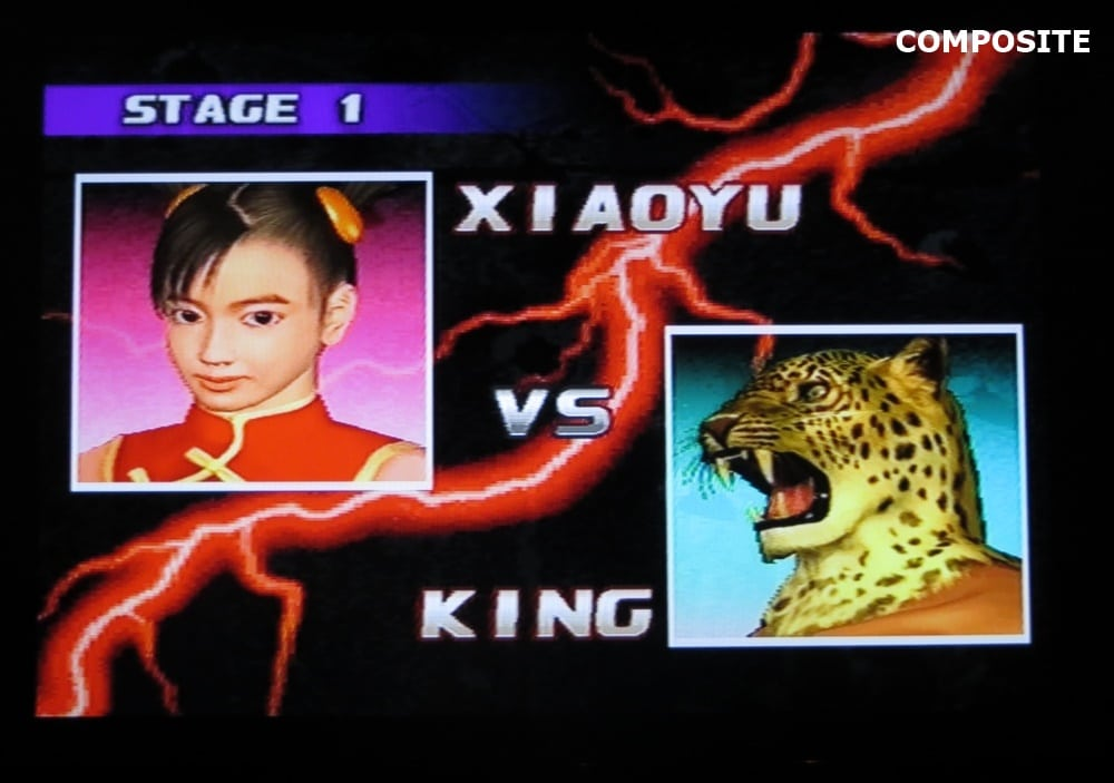 tekken 3 composite 6 - Jakość obrazu - Composite vs S-Video vs SCART RGB