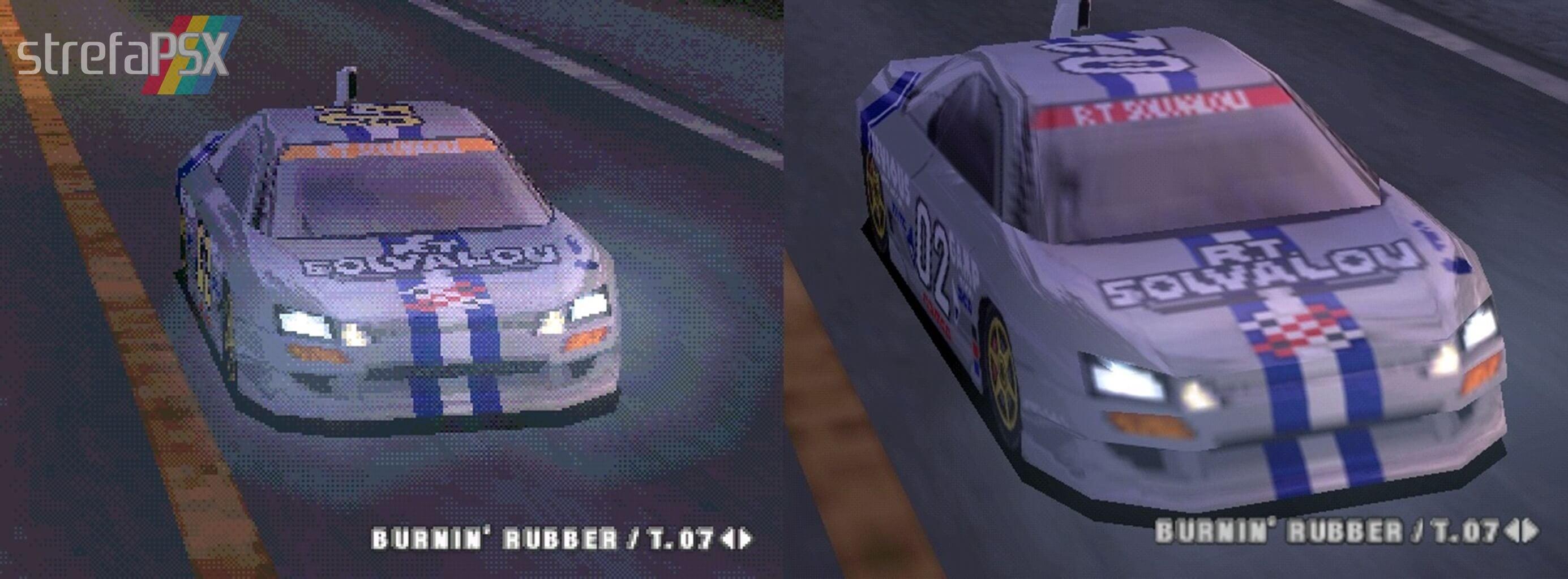 Stworzone przez grafików screeny z Ridge Racer 4 porównujące grafikę z PSX i z bleem!