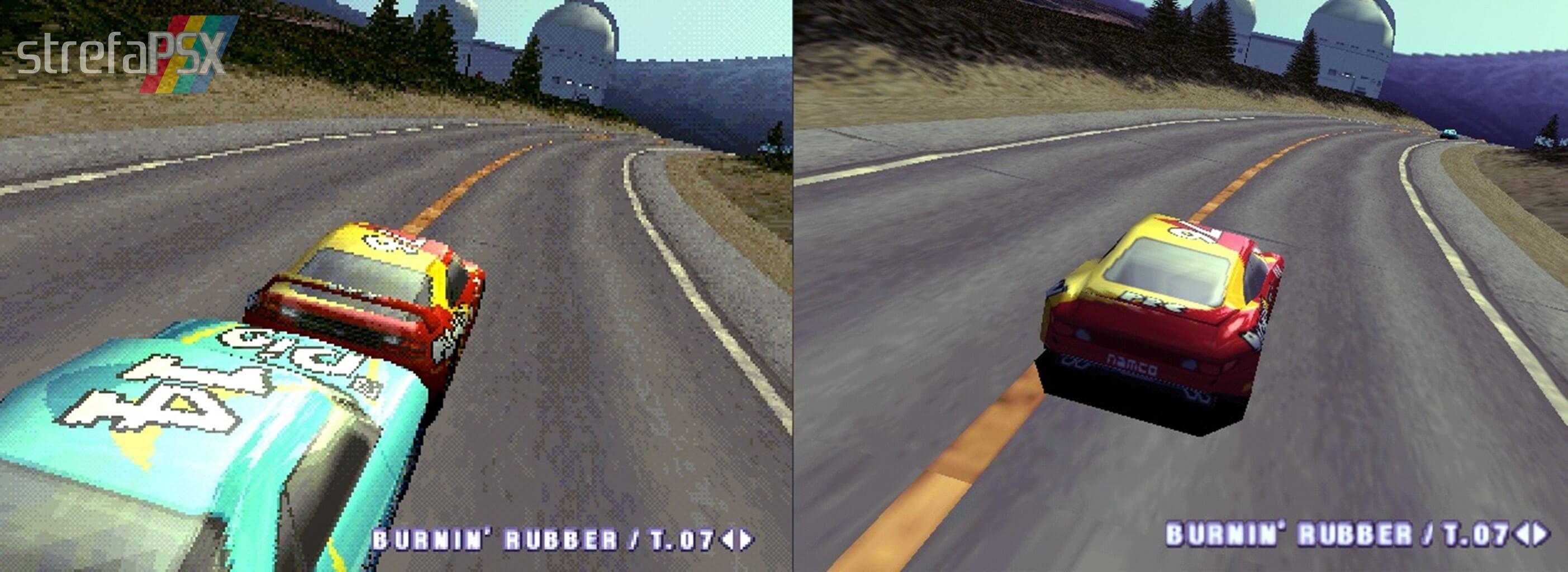 Stworzone przez grafików screeny z Ridge Racer 4 porównujące grafikę z PSX i bleem!