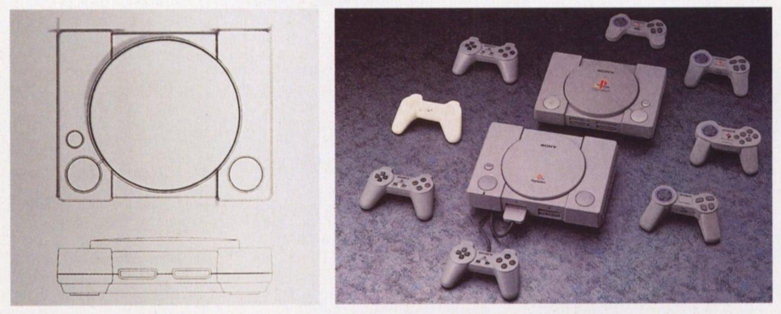 Szkic projektowy konsoli PlayStation