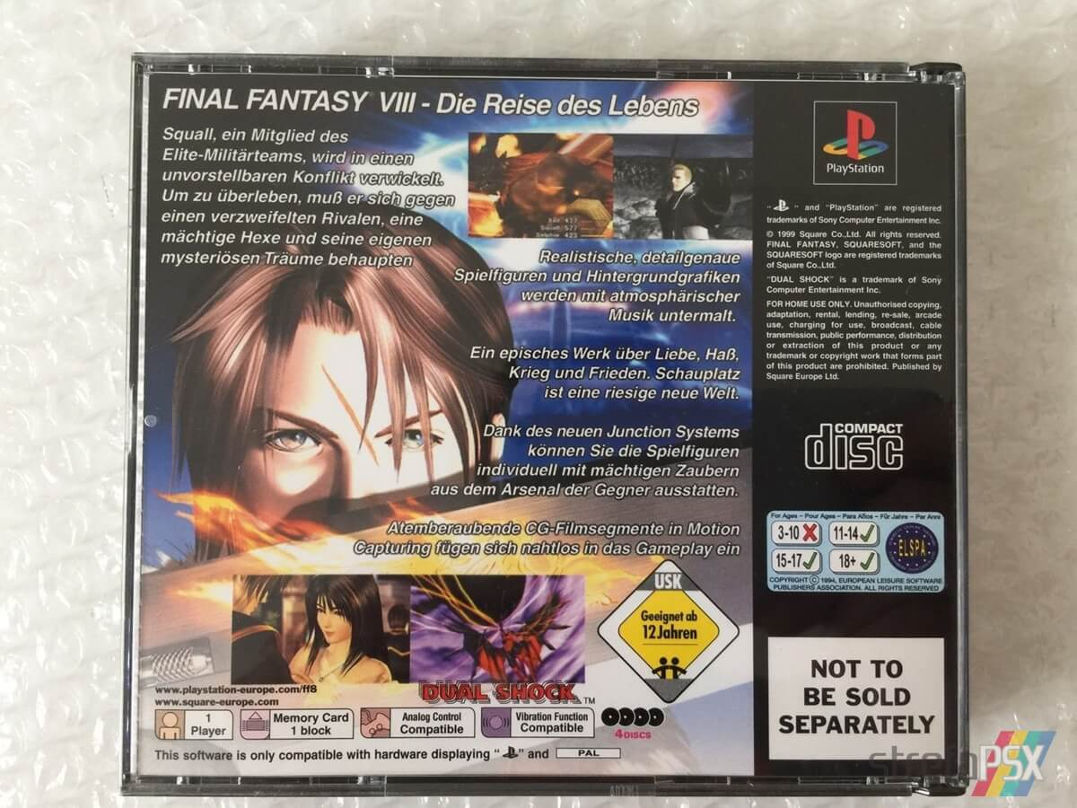 final fantasy viii limited edition04 - Kolekcjonerskie wydania gier - Final Fantasy VIII Limited Edition