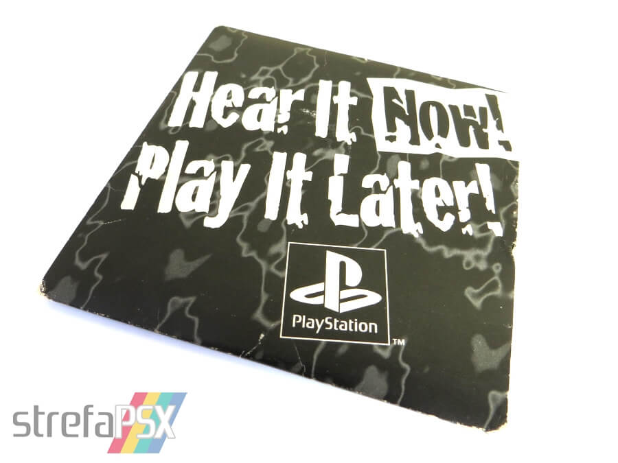 "play it now hear it later01 - ""Hear It Now! Play It Later!"" - pierwszy krążek na PSX wydany poza Japonią"