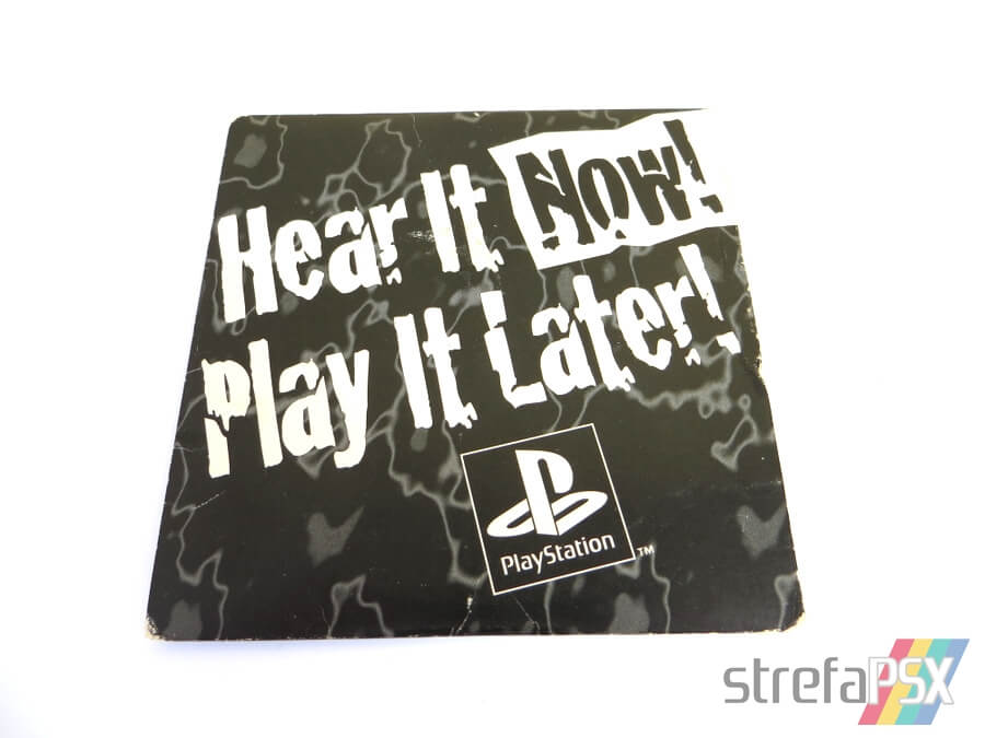 "play it now hear it later07 - ""Hear It Now! Play It Later!"" - pierwszy krążek na PSX wydany poza Japonią"
