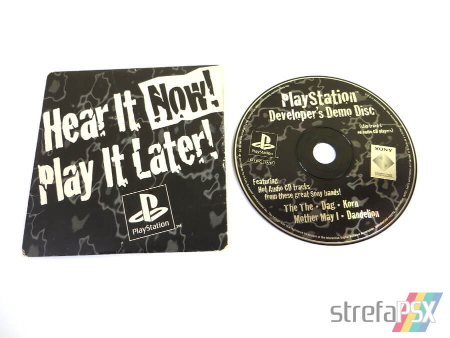 "play it now hear it later10 - ""Hear It Now! Play It Later!"" - pierwszy krążek na PSX wydany poza Japonią"