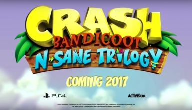Crash Bandicoot N Sane Trilogy 384x220 - Crash Bandicoot N. Sane Trilogy - pierwszy trailer z odświeżonej trylogii Crasha na PlayStation 4!