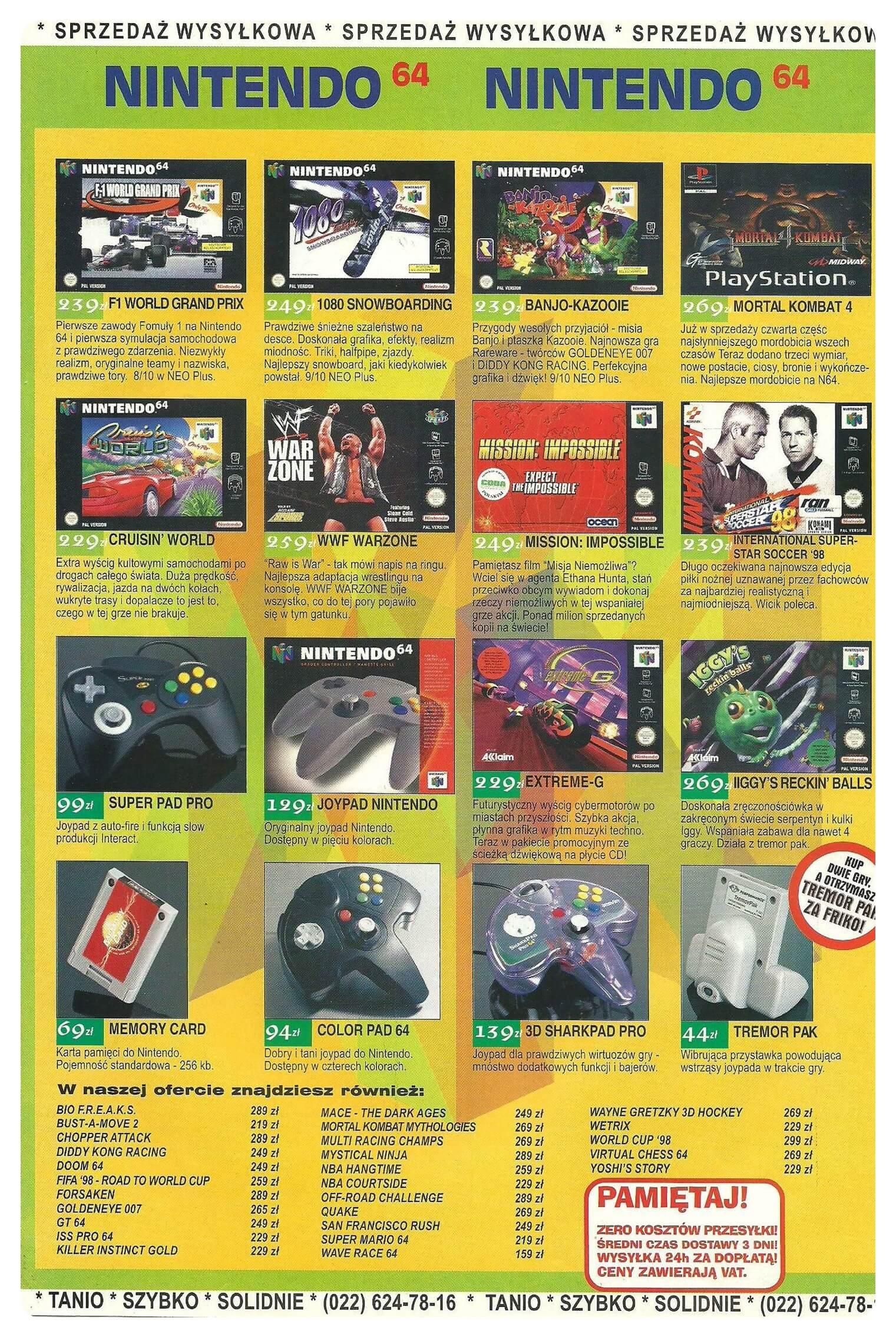 Neo Plus nr 004 199843q4 - Jak wyglądały ceny różnych konsol w Polsce w latach 1996-2006?