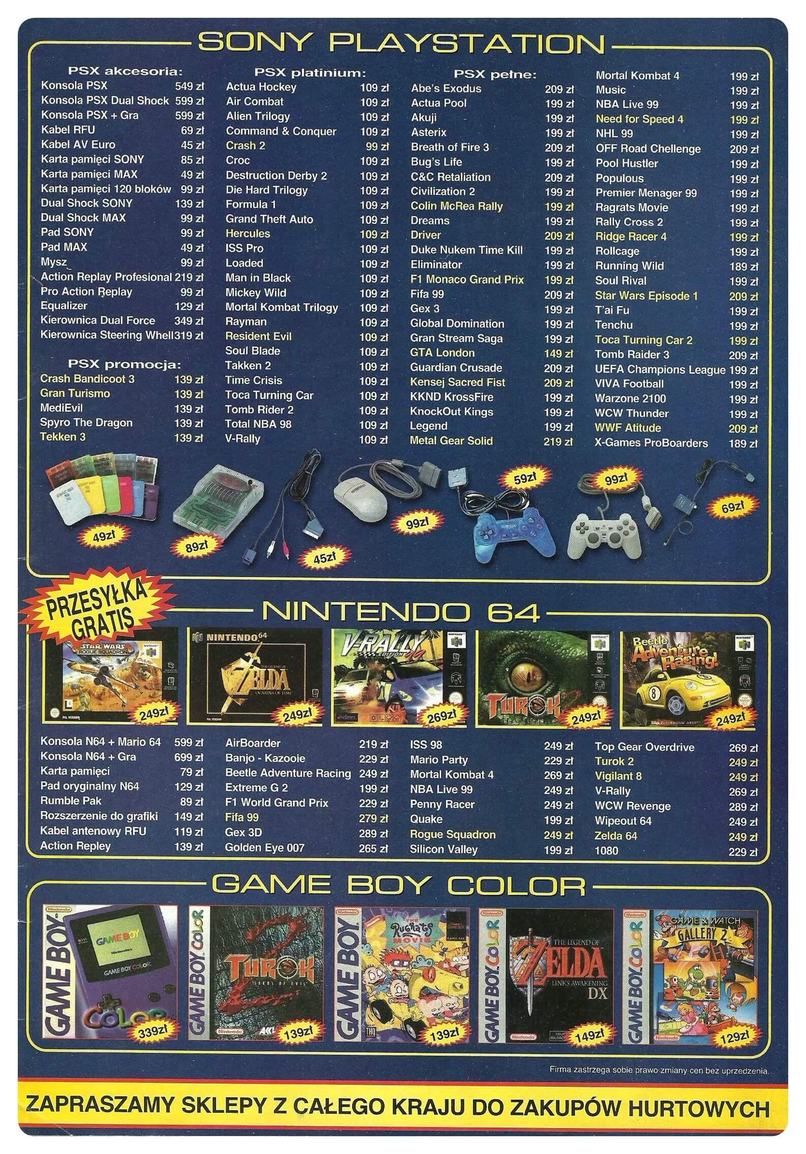 Neo Plus nr 011 19993q4 - Jak wyglądały ceny różnych konsol w Polsce w latach 1996-2006?
