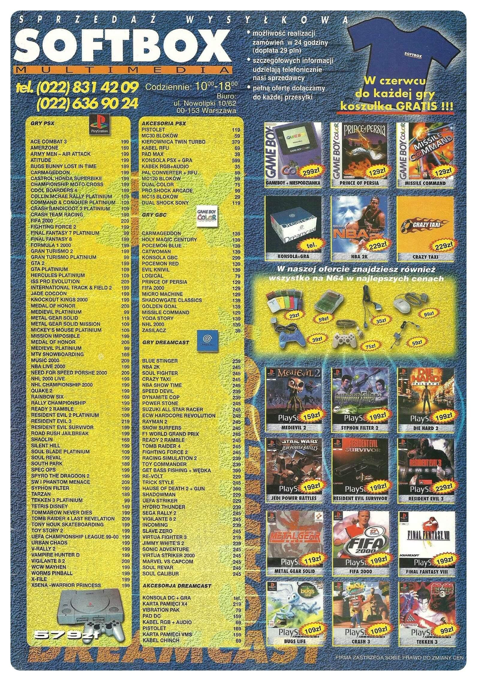 Neo Plus nr 022 20003q4 - Jak wyglądały ceny różnych konsol w Polsce w latach 1996-2006?