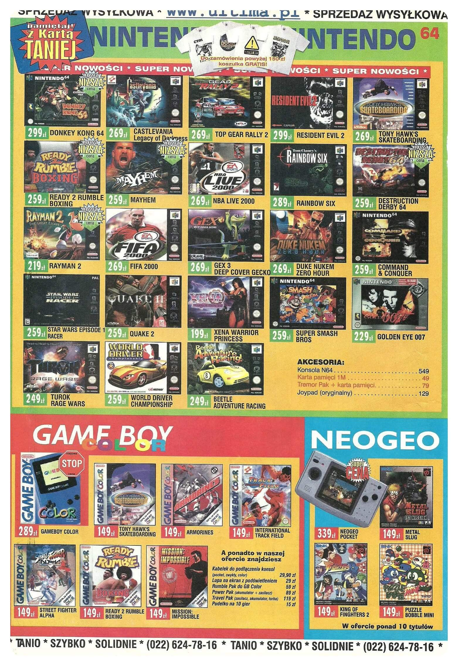 Neo Plus nr 022 200052q4 - Jak wyglądały ceny różnych konsol w Polsce w latach 1996-2006?