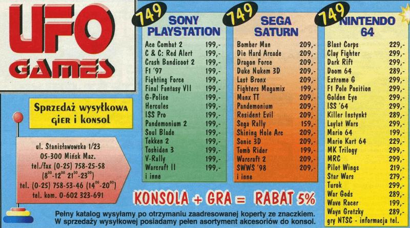 ceny konsol polska 1 - Jak wyglądały ceny różnych konsol w Polsce w latach 1996-2006?