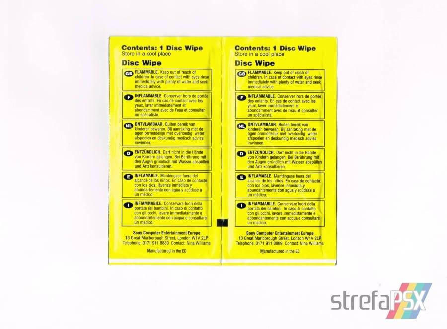 disc wipes playstation10 - [Inne] Oficjalne chusteczki do płyt / Disc Wipes