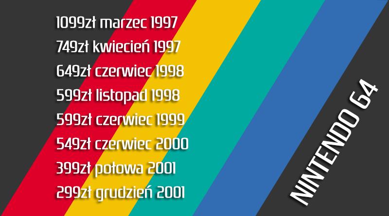 nintendo64 cena - Jak wyglądały ceny różnych konsol w Polsce w latach 1996-2006?