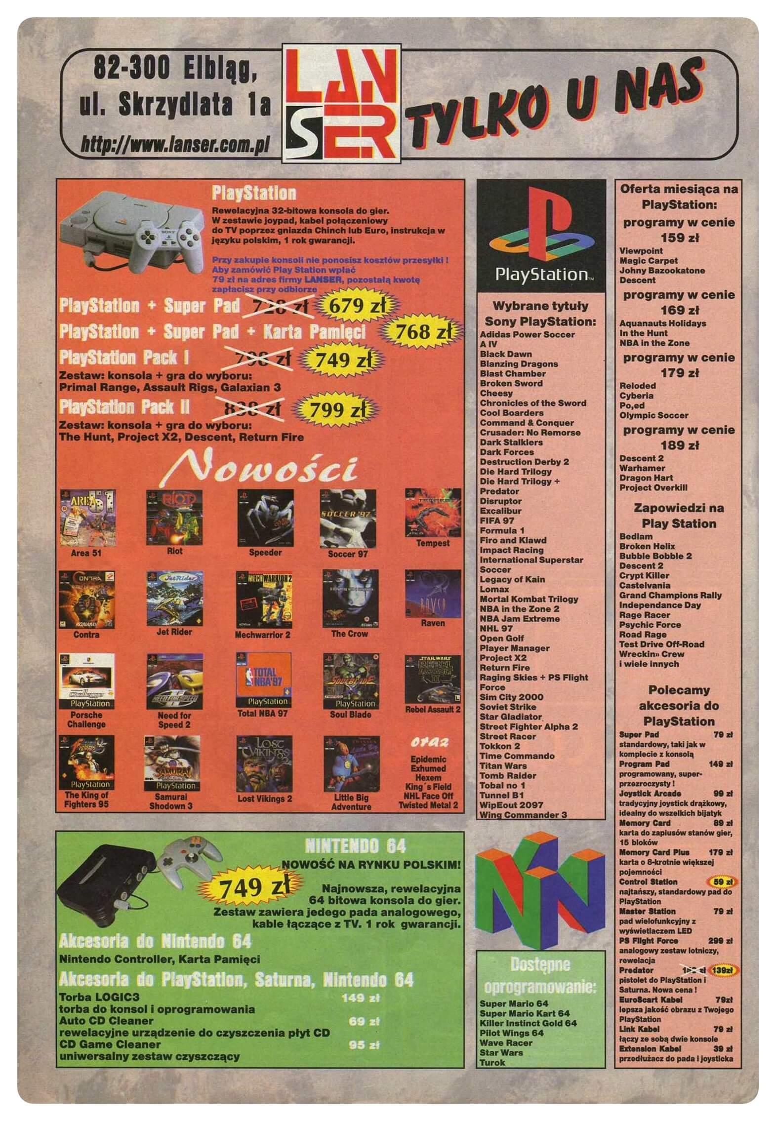 ss 07 lipiec 1997 - Jak wyglądały ceny różnych konsol w Polsce w latach 1996-2006?